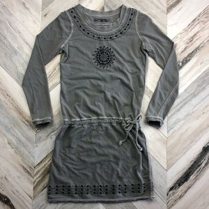 PrAna Long Sleeve Cotton Embroidered Dress Size XS